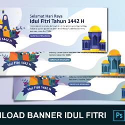 Download Banner Idul Fitri Coreldraw 3 Gratis