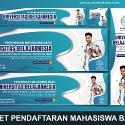 Download Banner Pendaftaran Mahasiswa Baru Photoshop