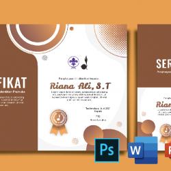 Download Sertifikat Pramuka Word Coreldraw Dan Photoshop