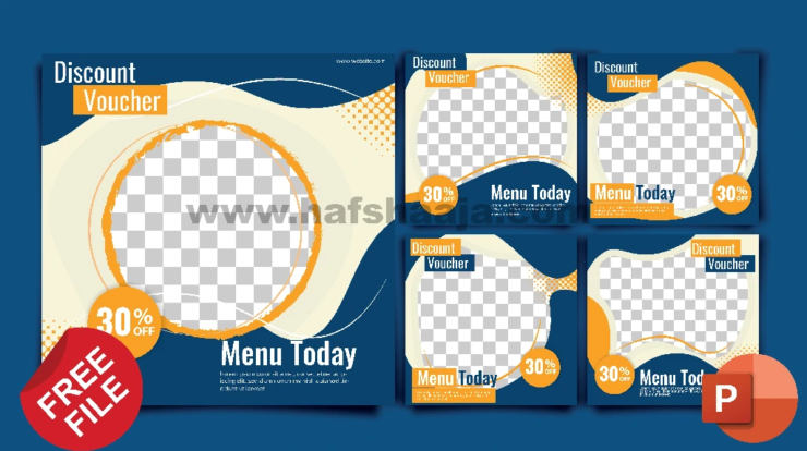 download desain feed instagram 2 powerpoint
